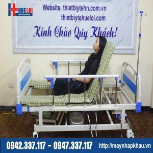 Giường bệnh y tế đa năng hạ chân góc nhỏ