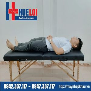 Giường massage trị liệu gấp gọn chân gỗ