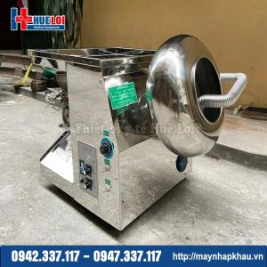 Máy làm viên hoàn kết hợp máy sấy khô và đánh bóng thuốc