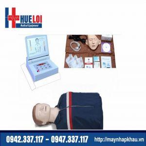 Mô hình thực hành cấp cứu ngừng tuần hoàn nửa người có monitor