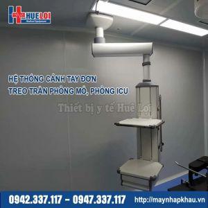 Cánh tay đơn treo trần phòng mổ phòng ICU