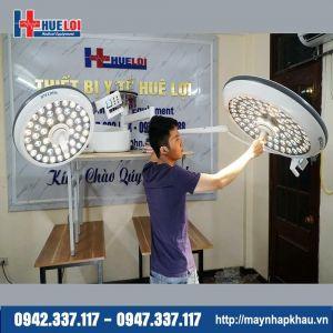 Đèn mổ treo trần 2 nhánh LED 750/550